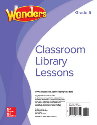 Wonders Classroom Library Lessons, Grade 5