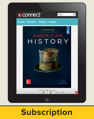 Brinkley, American History: Connecting with the Past UPDATED AP Edition, 2017, 15e, Connect, 6-year Subscription