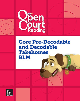Open Court Reading, Core PreDecodable and Decodable Takehome Book Blackline Master, Grade K