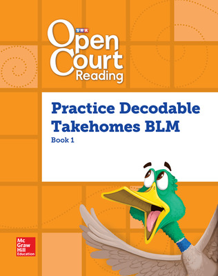 Open Court Reading, Practice PreDecodable and Decodable Takehome Books Blackline Master Book 1, Grade 1