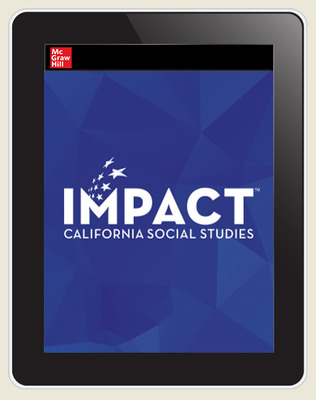 IMPACT: California, Grade 12, Online Student Edition, 8-year Subscription, Principles of American Democracy