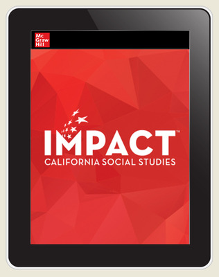 IMPACT: California, Grade 8, Online Teacher Center, 8 Year Subscription, United States History & Geography, Growth & Conflict