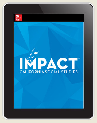 IMPACT: California, Grade 6, Online Student Edition, 8 Year Subscription, World History & Geography, Ancient Times