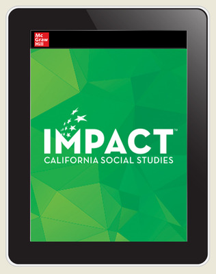 IMPACT: California, Grade 7, Online Teacher Edition, 8 Year Subscription, World History & Geography, Medieval & Early Modern Times
