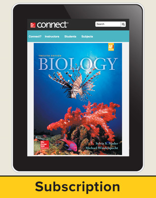 Mader, Biology, 2016, 12e (Reinforced Binding) Connect, 1-year subscription