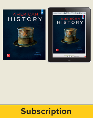 Brinkley, American History: Connecting with the Past, AP Edition ©2015 15e, Student Bundle, 6-year subscription (Student Edition with ConnectED eBook)