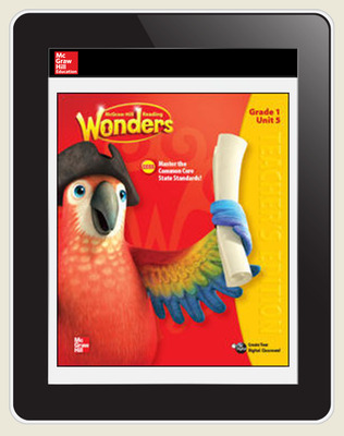 Wonders Student Online Workspace 6-Year Online Subscription, Grade 1