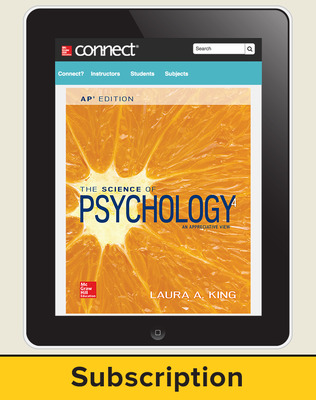 King, The Science of Psychology, 2017, 4e (AP Edition) Connect with APR, 6-year subscription