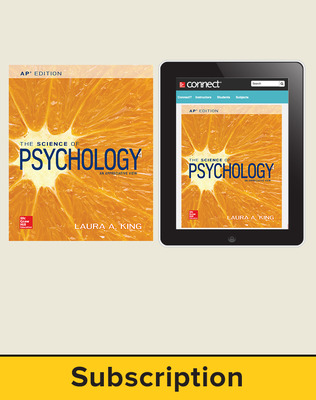 King, The Science of Psychology, 2017, 4e (AP Edition) Standard Student Bundle with APR (Student Edition with Connect) 6-year subscription