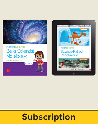Inspire Science 2.0 Grade 2, Basic Student Bundle with Print Be a Scientist Notebook and Online Student Learning Center, 1 Year Subscription