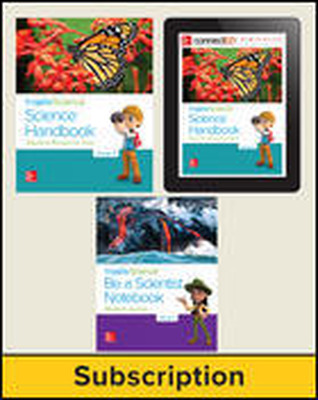 Inspire Science 2.0 Grade 3, Deluxe Student Bundle with Print Be a Scientist Notebook, Print Science Handbook and Online Student Learning Center, 5 Year Subscription