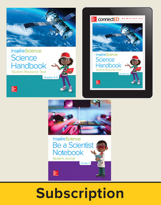 Inspire Science 2.0 Grade 4, Deluxe Student Bundle with Print Be a Scientist Notebook, Print Science Handbook and Online Student Learning Center, 7 Year Subscription