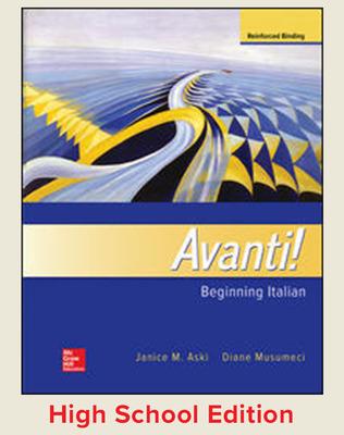 Avanti! Beginning Italian cover