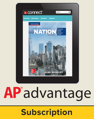 Brinkley, The Unfinished Nation: A Concise History of the American People, 2016 8e, AP Advantage Digital Bundle, 6-year subscription