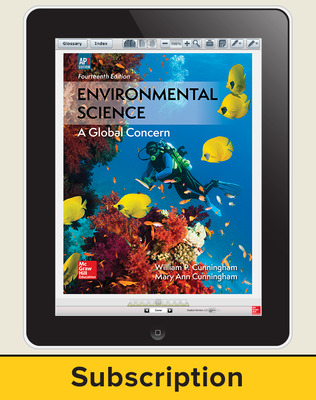 Cunningham, Environmental Science, 2018, 14e (AP Edition) ConnectED eBook, 6-year subscription