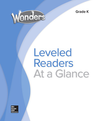 Wonders Balanced Literacy Leveled Reader Chart, Grade K