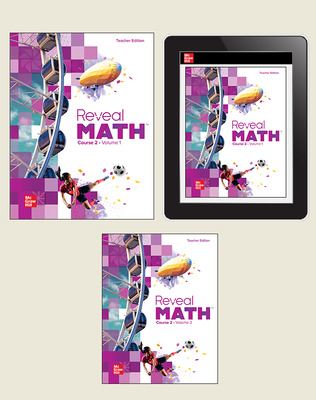 Reveal Math Course 2, Teacher Bundle (TE + Teacher Digital License), 6-year subscription