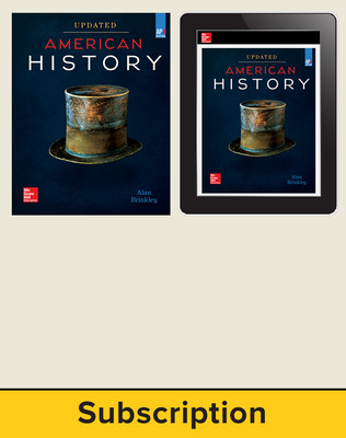 Brinkley, American History: Connecting with the Past UPDATED AP Edition, 2017, 15e, Print and Digital bundle, 1-year subscription