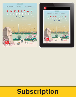 Harrison, American Democracy Now, 2017, 5e (AP Edition) Print and Digital bundle, 6-year subscription