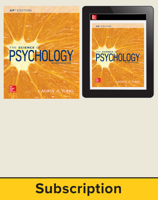 King, The Science of Psychology, 2017, 4e (AP Edition) AP Advantage Print and Digital bundle, 6-year subscription