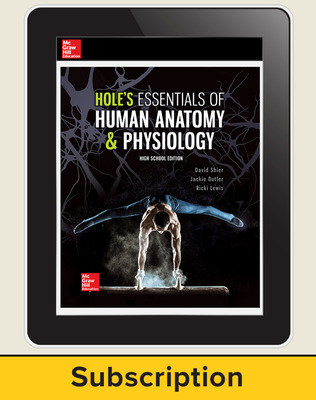 Shier, Hole's Essentials of Human Anatomy and Physiology, High School Ed, 2018, 1e, Online Student Edition 6-year subscription