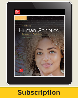 Lewis, Human Genetics, 2018, 12e (Reinforced Binding) Online Teacher Edition, 6-year subscription