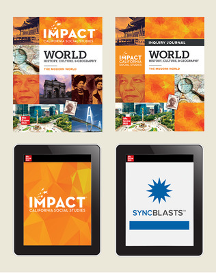 IMPACT: California, Grade 10, Complete Digital and Print Student Bundle with StudySync Blasts, 8-year Subscription, World History, Culture, & Geography, The Modern World