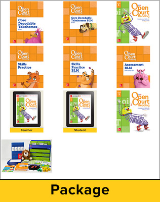 Open Court Reading Grade 1 Foundational Skills Kit Classroom Bundle, 1 Year Subscription