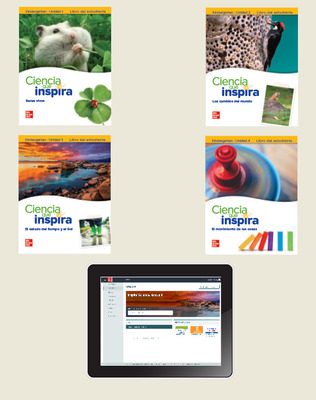 Inspire Science Grade K, Online Student Center with Spanish Print Student Edition Units 1-4, 1 Year Subscription