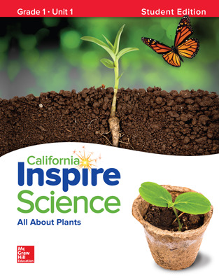 California INSPIRE SCIENCE:  Grade 1 Online Student Center with Print Student Edition Units 1-4, 8 Year Subscription