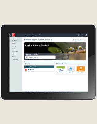 Inspire Science: Integrated G8 Digital Student Center 1-year subscription