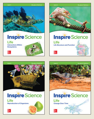 Inspire Science: Life Write-In Student Edition 4 Unit Bundle