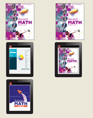Reveal Math Course 2, Student Bundle with ALEKS.com and Arrive Math Booster, 1-year subscription