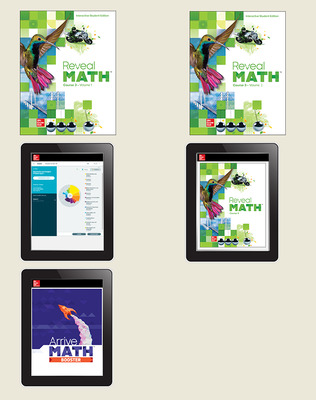 Reveal Math Course 3, Student Bundle with ALEKS.com and Arrive Math Booster, 6-year subscription