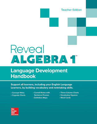 Reveal Algebra I, Language Development Handbook, Teacher Edition