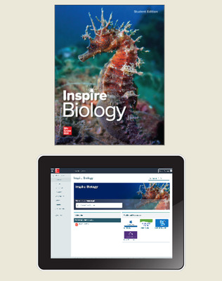 Inspire Science: Biology, G9-12 Comprehensive Digital & Print Student Class Set (70 eSE 35 print SE), 1-year subscription