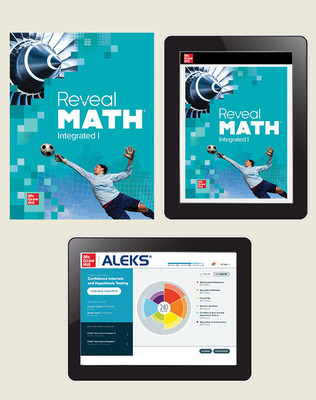 Reveal Math Integrated I, Student Bundle with ALEKS.com (1-6-6), 6-year subscription