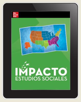 IMPACTO Social Studies, Regiones de Estados Unidos, Grade 4, Online Student Center, 1-year subscription