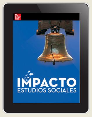 IMPACTO Social Studies, Historia de Estados Unidos: la creación de una nueva nación, Grade 5, Online Student Center, 1-year subscription