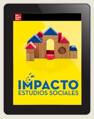 IMPACTO Social Studies, Aprender y trabajar juntos, Grade K, Online Teacher Center, 1-year subscription