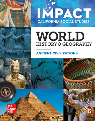 IMPACT: California, Grade 6, Deluxe Digital and Print Student Class Set of 75 with StudySync Blasts and Class Set of 30 Print Student Editions, 6-year subscription, World History and Geography, Ancient Civilizations