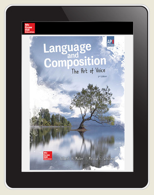Muller, Language and Composition: The Art of Voice, 2019, 2e, (AP Ed), Digital Student Subscription, 1 year subscription