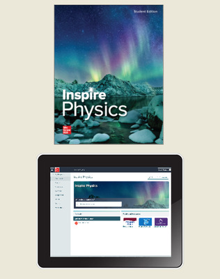 Inspire Science: Physics, G9-12 Comprehensive Student Class Set (70 eSE 35 print SE), 1-year subscription