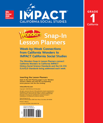 IMPACT: California, Grade 1, California Wonders Connections Inserts