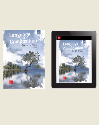 Muller, Language & Composition: The Art of Voice, 2019, 2e, AP advantage Print & Digital Bundle (Student Edition with ONboard, Online Student Edition, SCOREboard), 1-year subscription