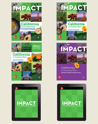 IMPACT: California, Grade 4, Digital and Print Student Bundle w/Combo Book, 8-year subscription, California: A Changing State