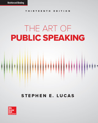 The Art of Public Speaking (Lucas) cover