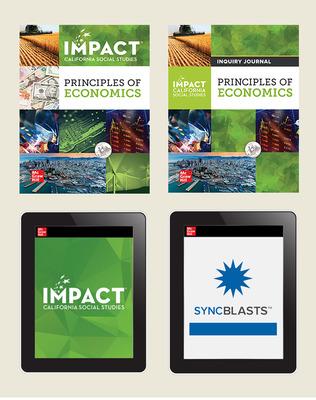 IMPACT: California, Grade 12, Comprehensive Digital and Print Student Bundle with StudySync Blasts, 8-year subscription, Principles of Economics