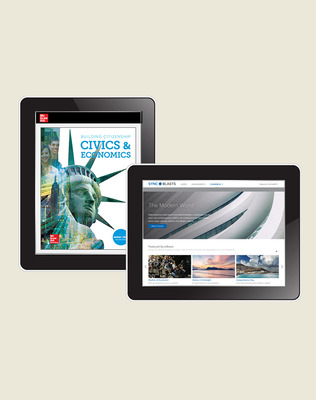 Building Citizenship: Civics and Economics, Student Learning Center with StudySync SyncBlasts Digital Bundle, 1-year subscription