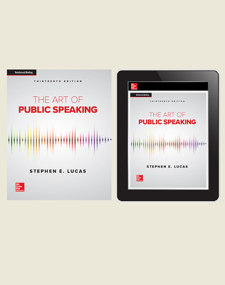 Lucas, The Art of Public Speaking, 2020, 13e, Standard Student Bundle (Student Edition with Online Student Edition), 1-year subscription
